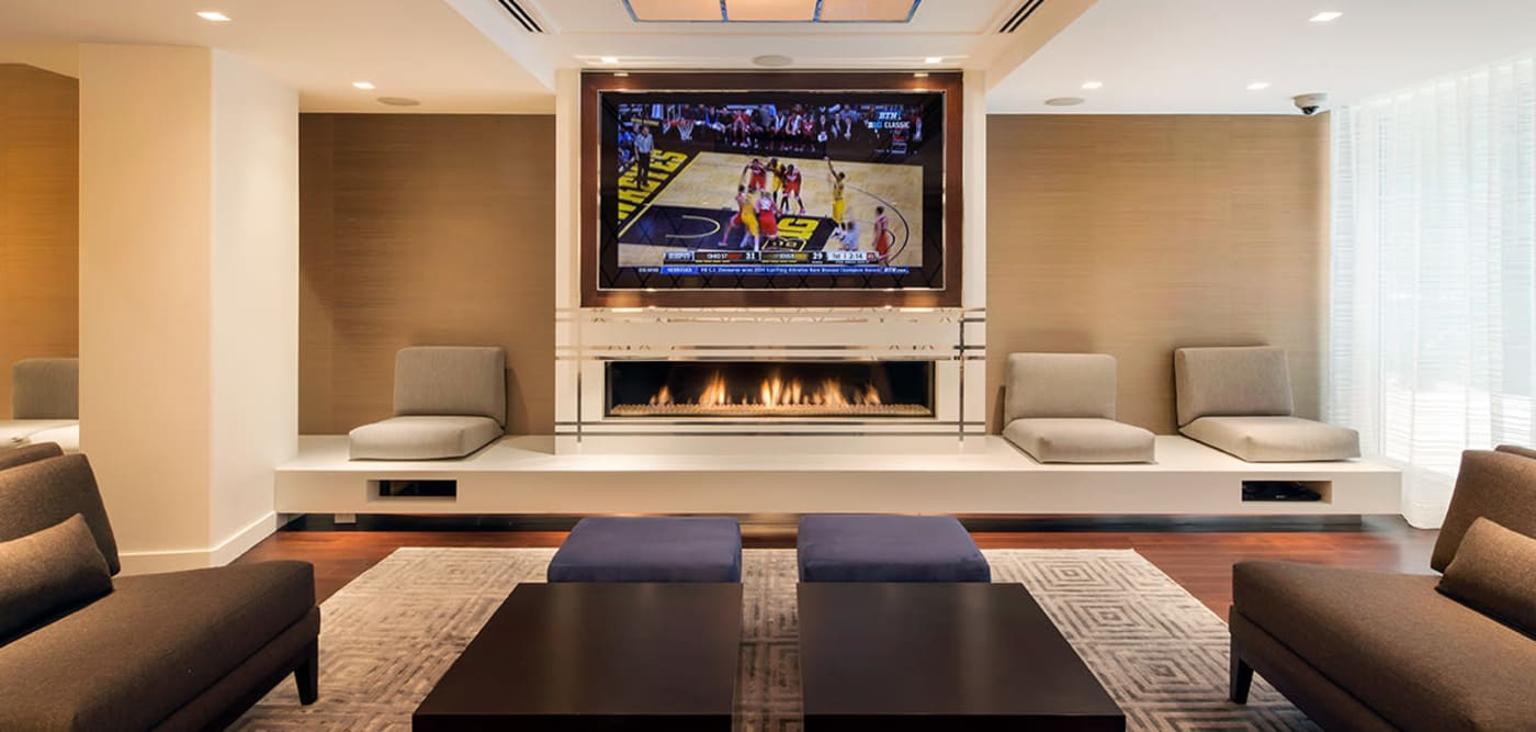 Clubhouse with a large flat-screen TV at The Larstrand in New York, New York