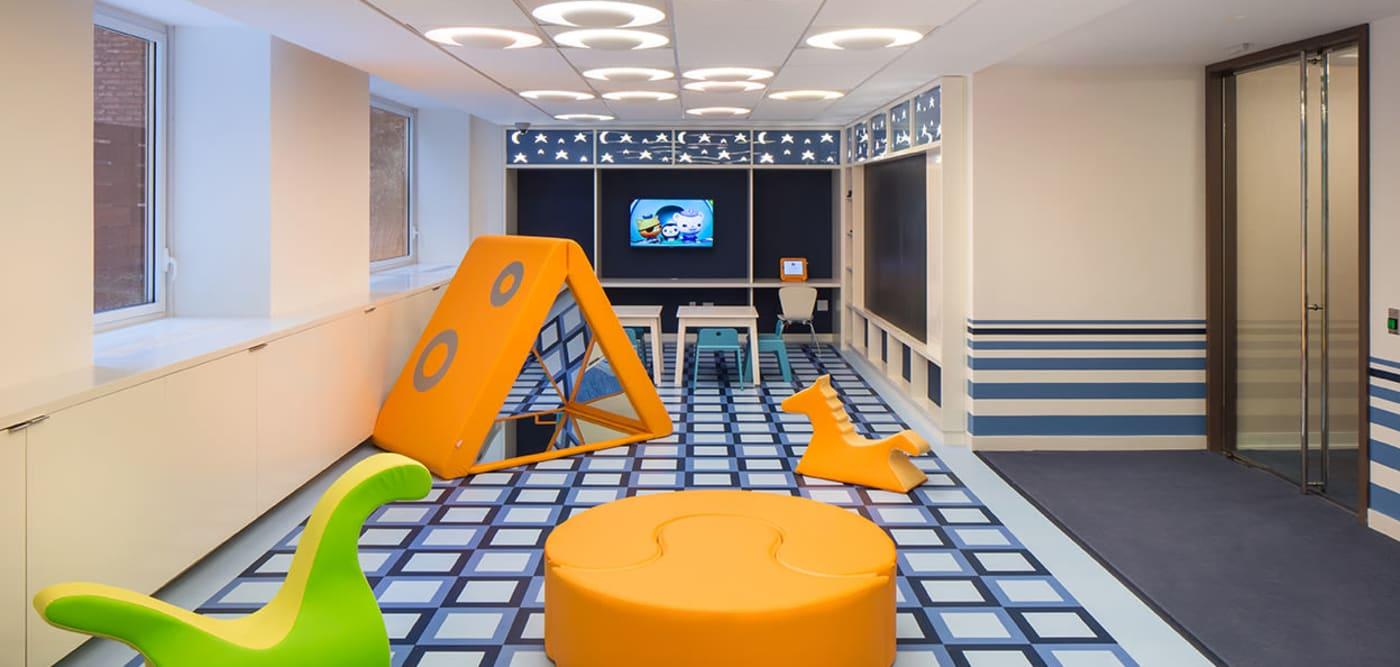 Children play area at The Larstrand in New York, New York