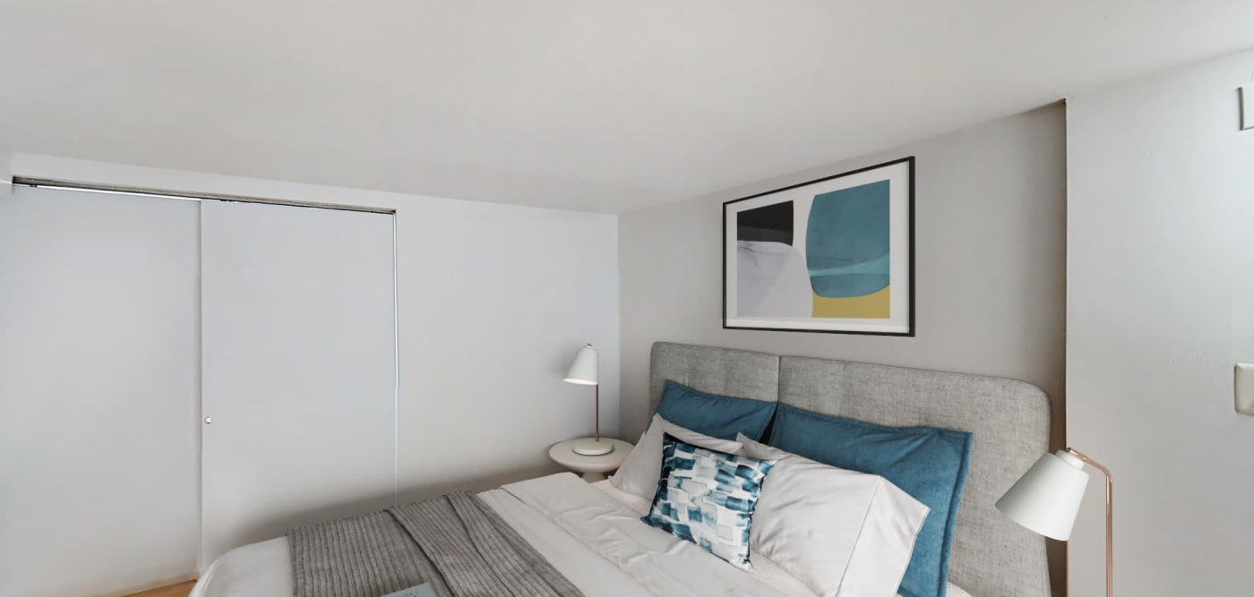 Bedroom at 210-220 E. 22nd Street in New York, New York