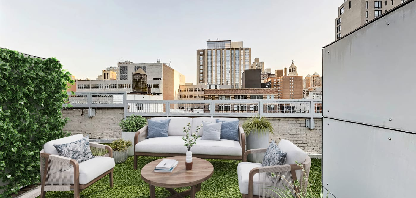 Outdoor area at 210-220 E. 22nd Street in New York, New York