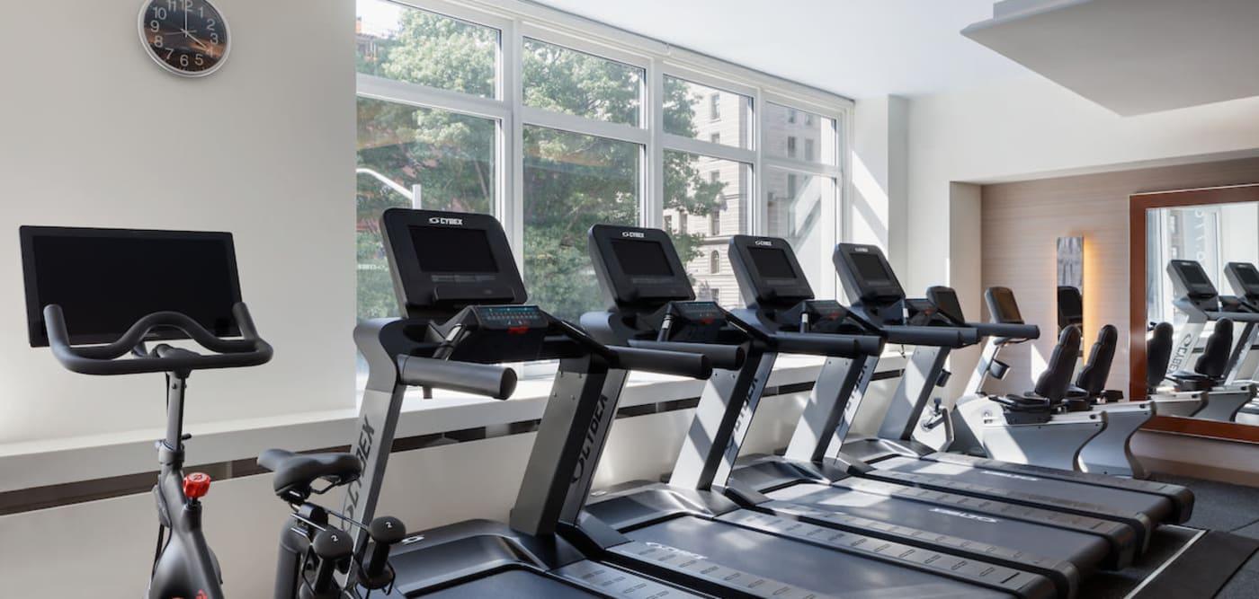 Exercise equipment at The Larstrand in New York, New York