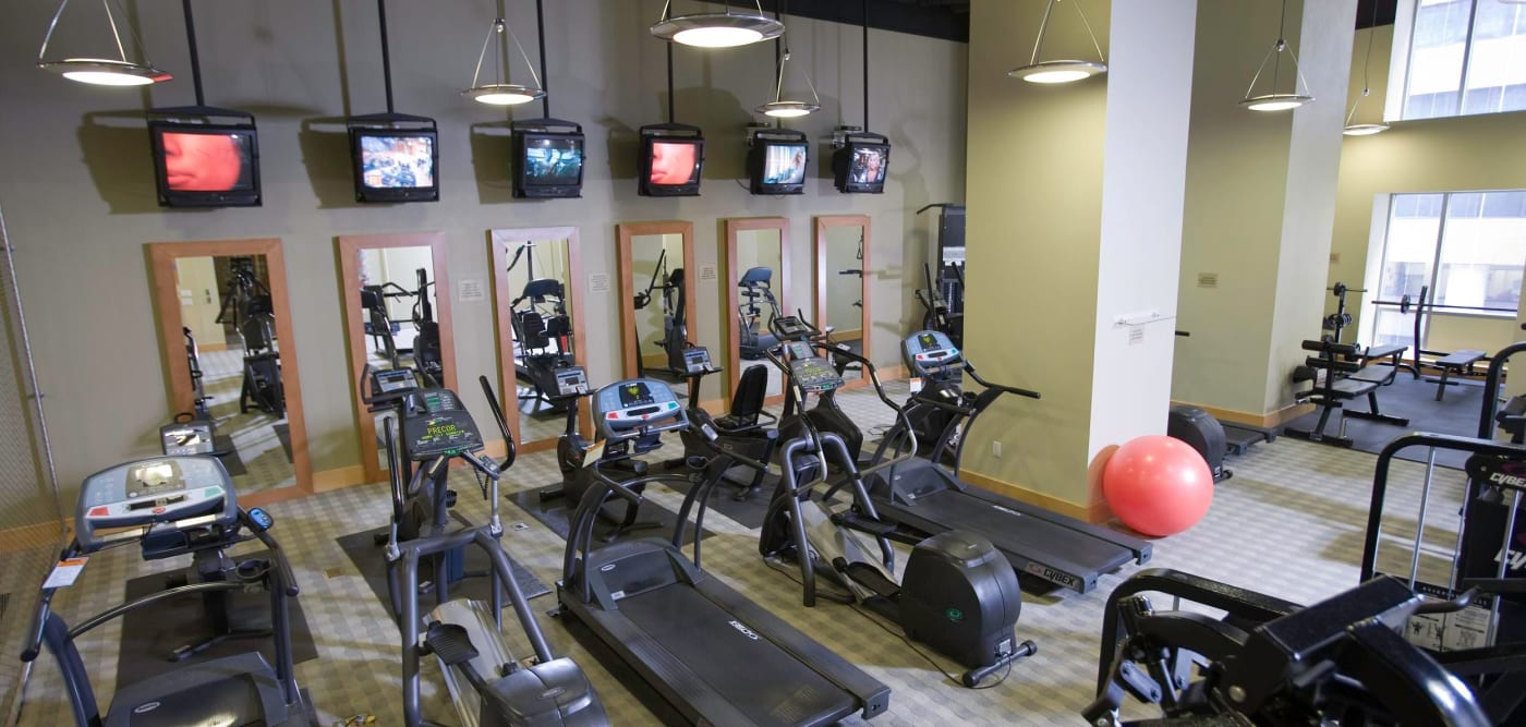 Fitness center at The Metropolis in New York, New York