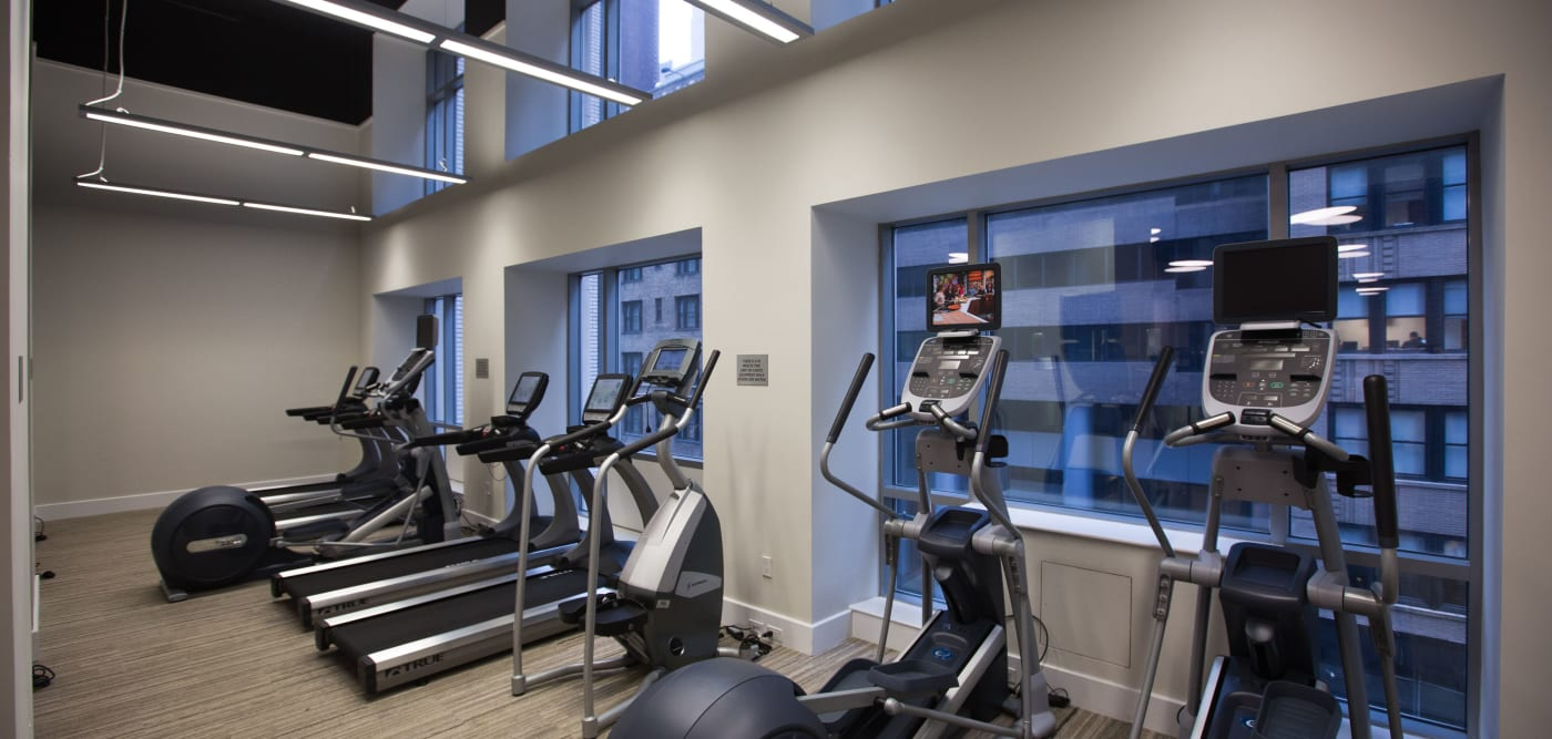 Plenty of individual work out stations at The Metropolis in New York, New York