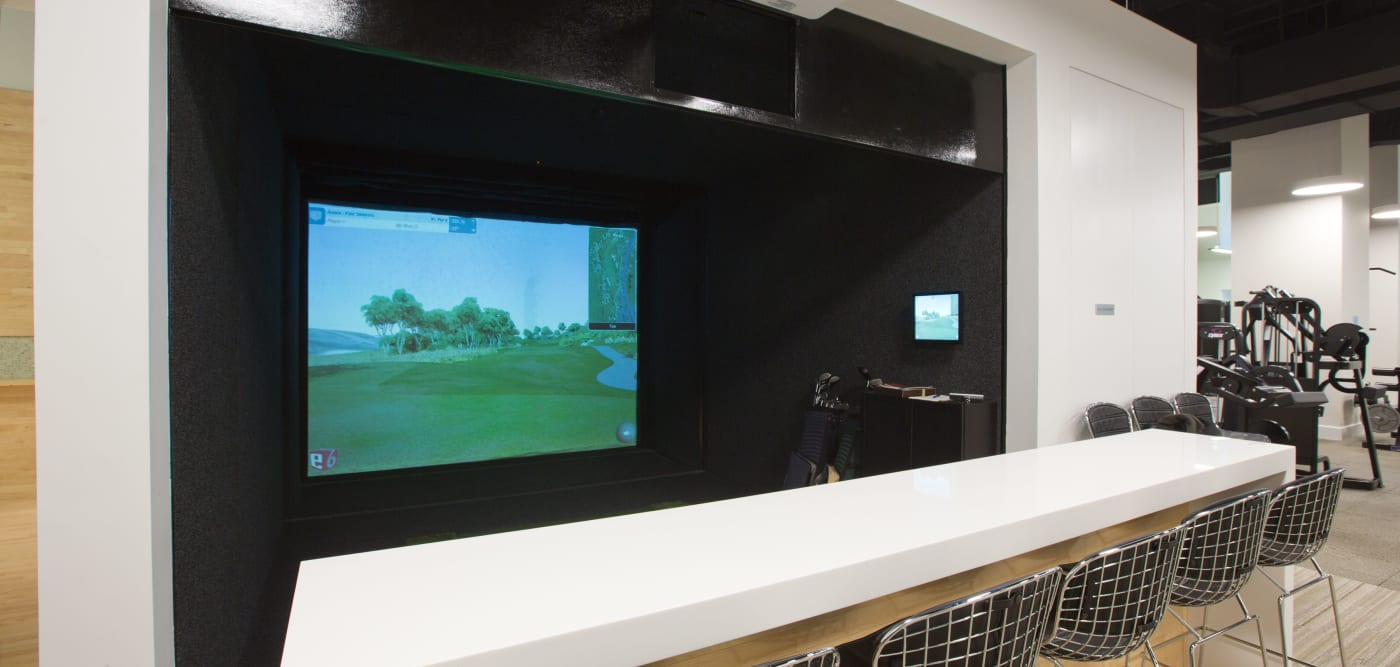 A virtual golf room at The Metropolis in New York, New York