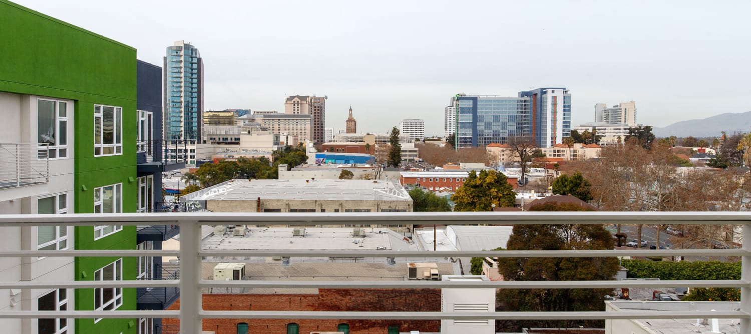 Great views of downtown San Jose from Sparq