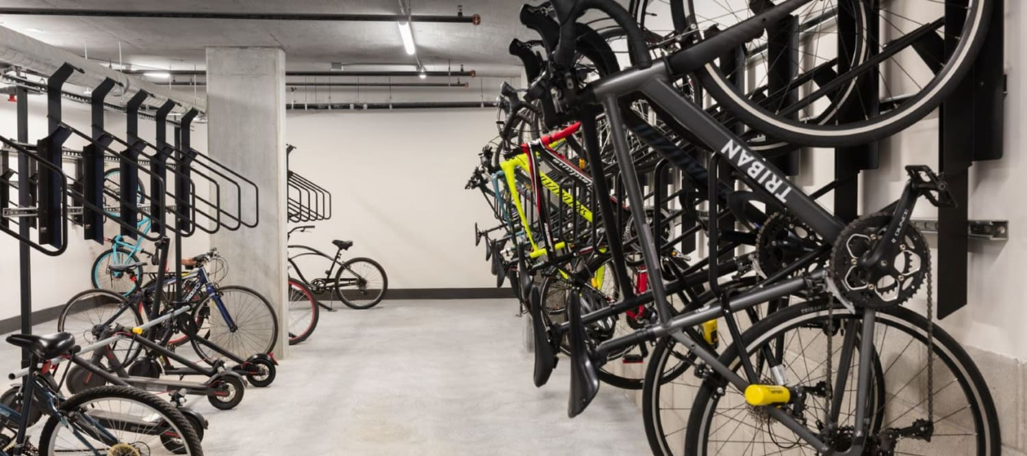 Bike Storage in Garage at Sparq