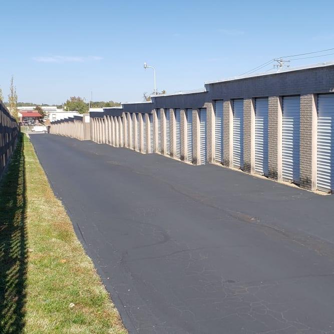Wide driveways at A Shur-Lock Self Storage in Maryland Heights, Missouri