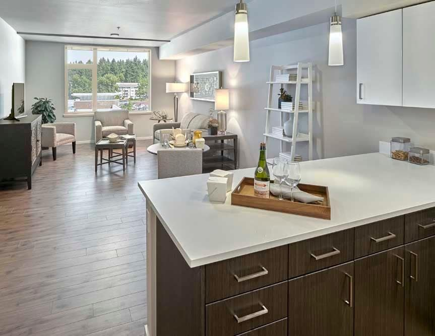 Open floor plans at The Maverick in Burien, WA