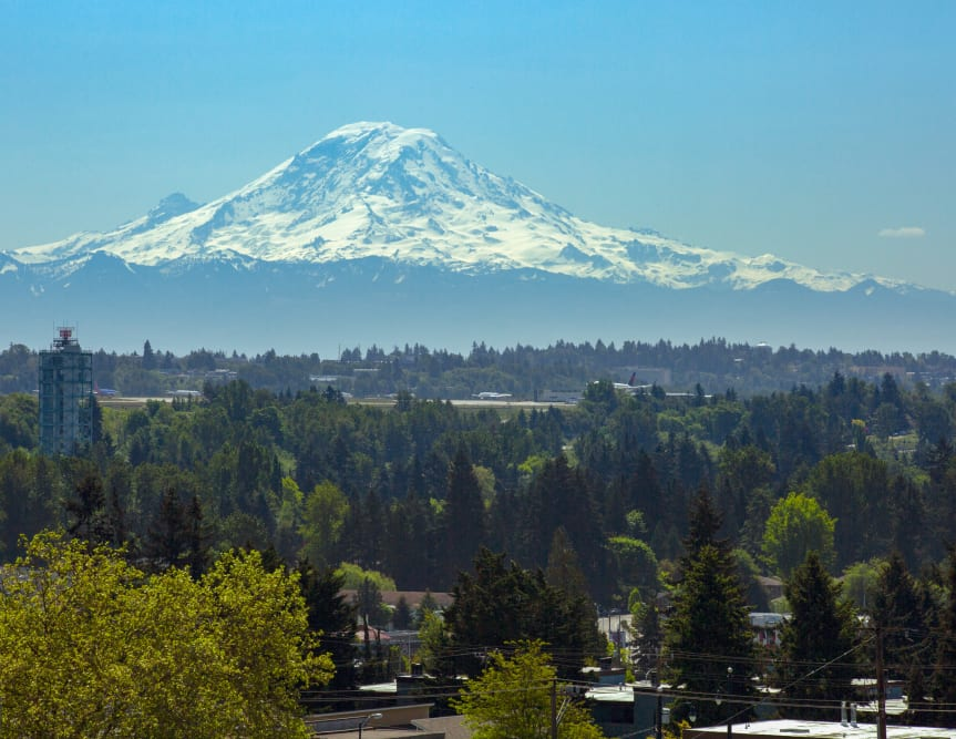 Views of Mt. Rainier from The Maverick