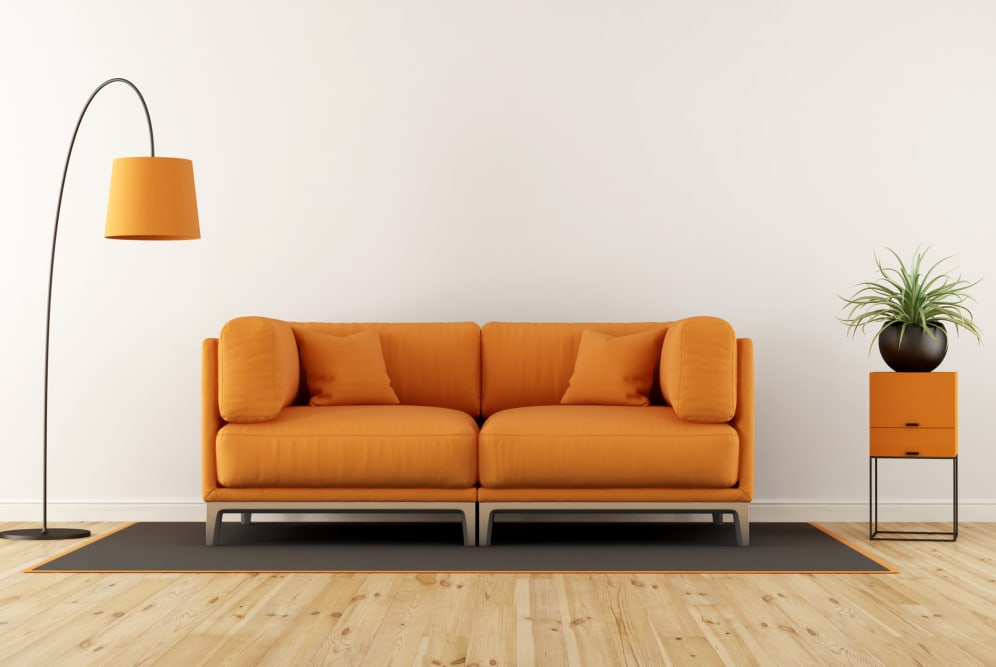 Living room at Henson Ridge Apartments