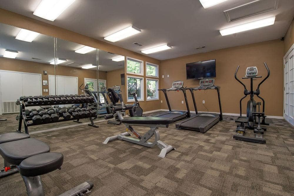 Beautiful fitness center at apartments in Ridgeland, Mississippi