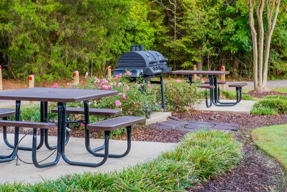 Beautiful bbq area at The Pointe of Ridgeland in Ridgeland, Mississippi