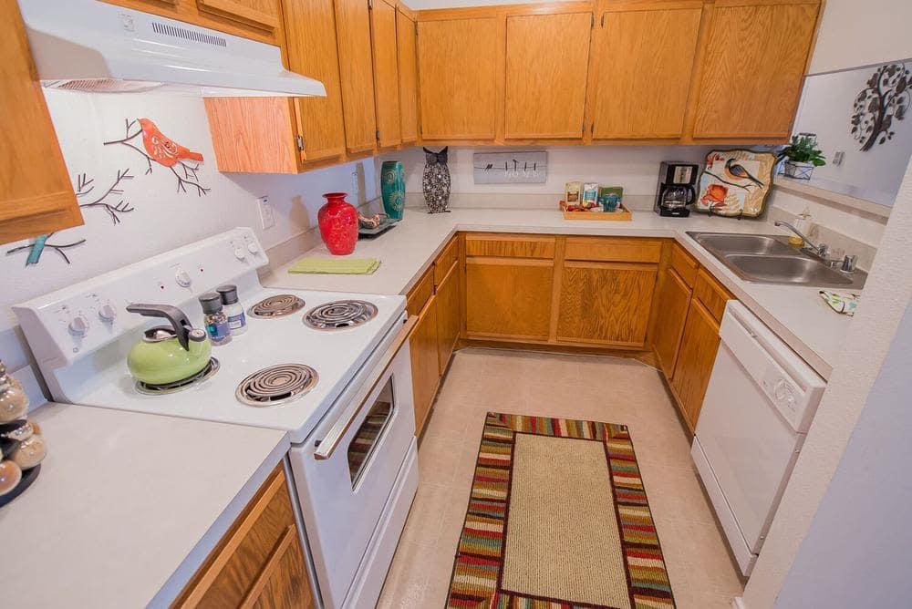 Beautiful kitchen at apartments in Ridgeland, Mississippi