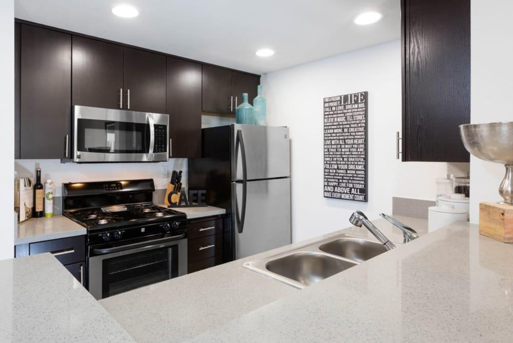 Beautiful kitchen at Sofi at 3rd in Long Beach, CA