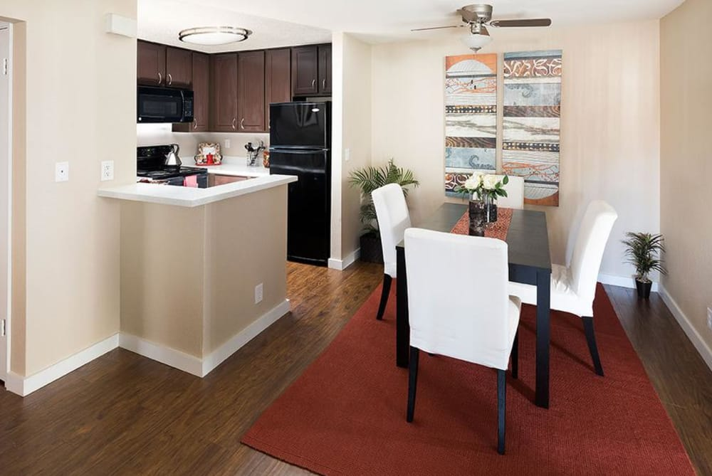 Dining Room at Avana Skyway Apartments in San Jose, CA
