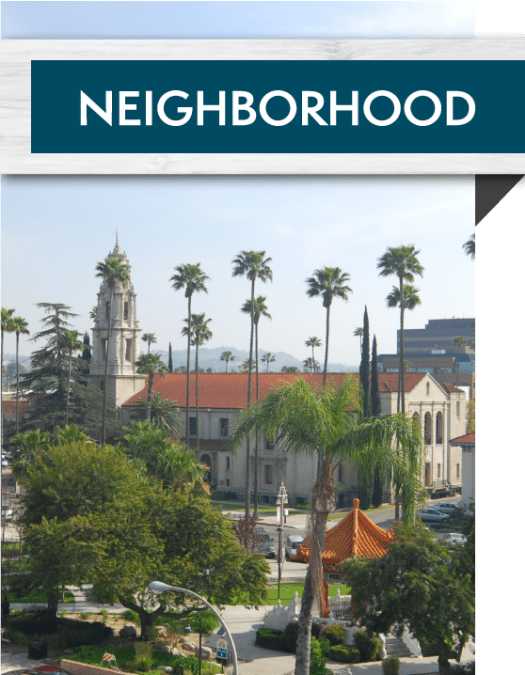 View the neighborhood near Lincoln Village in Riverside, California