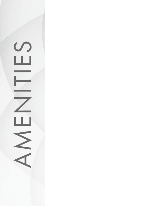 Amenities graphic for The Hamilton