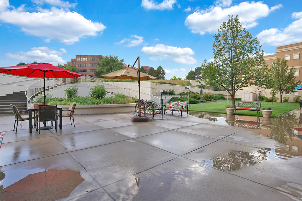 Amenities at the senior living community in Greenwood Village