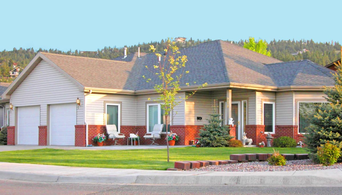 An independent living home at Touchmark on Saddle Drive in Helena, Montana