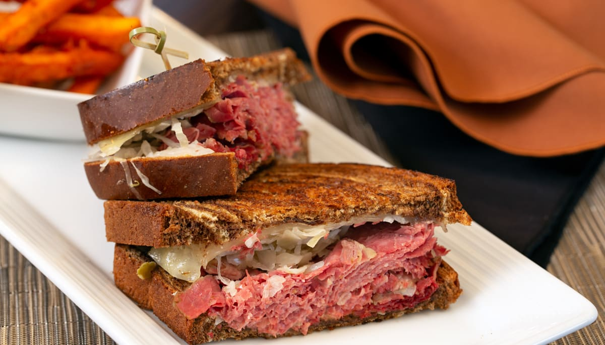 A reuben sandwich at Touchmark at Coffee Creek in Edmond, Oklahoma