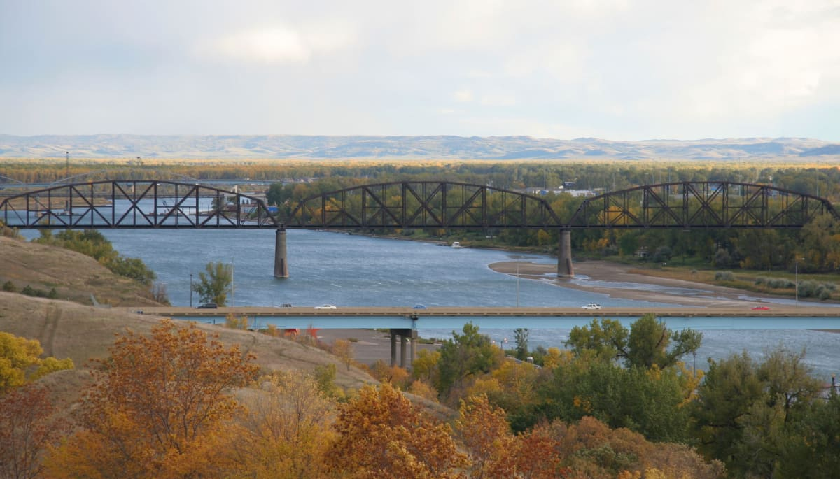 The beautiful landscape near Touchmark on West Century in Bismarck, North Dakota