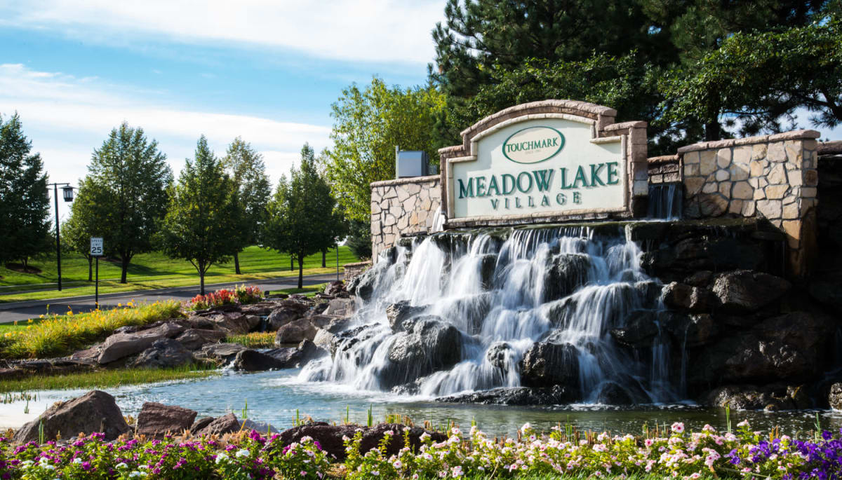 Branding and signage at Touchmark at Meadow Lake Village in Meridian, Idaho