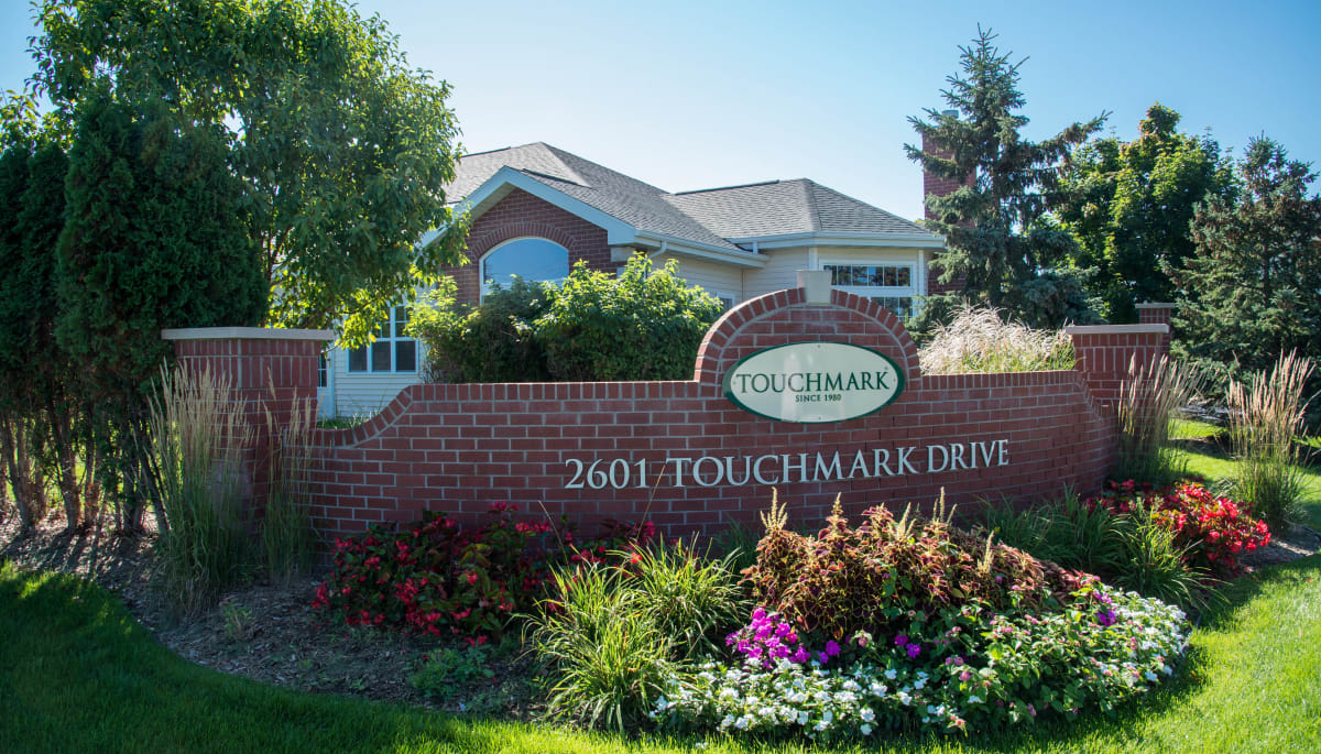 Branding and signage at Touchmark on West Prospect in Appleton, Wisconsin