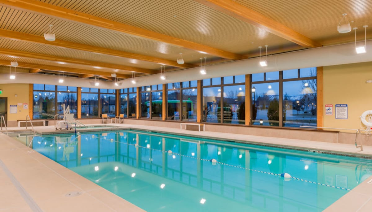 The fitness club pool at Touchmark at Meadow Lake Village in Meridian, Idaho