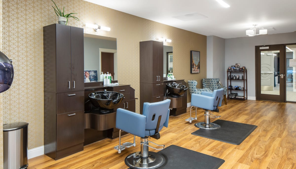 Salon and barber shop of Touchmark in the West Hills in Portland, Oregon