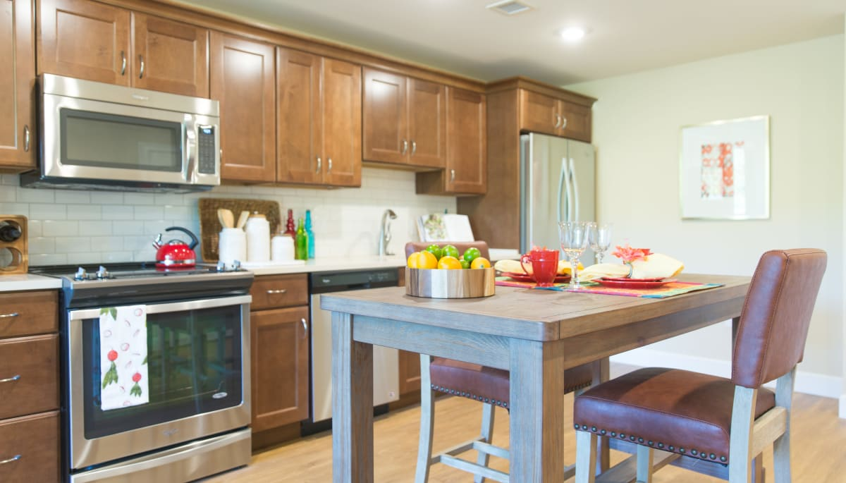 Resident kitchen at Touchmark on West Century in Bismarck, North Dakota