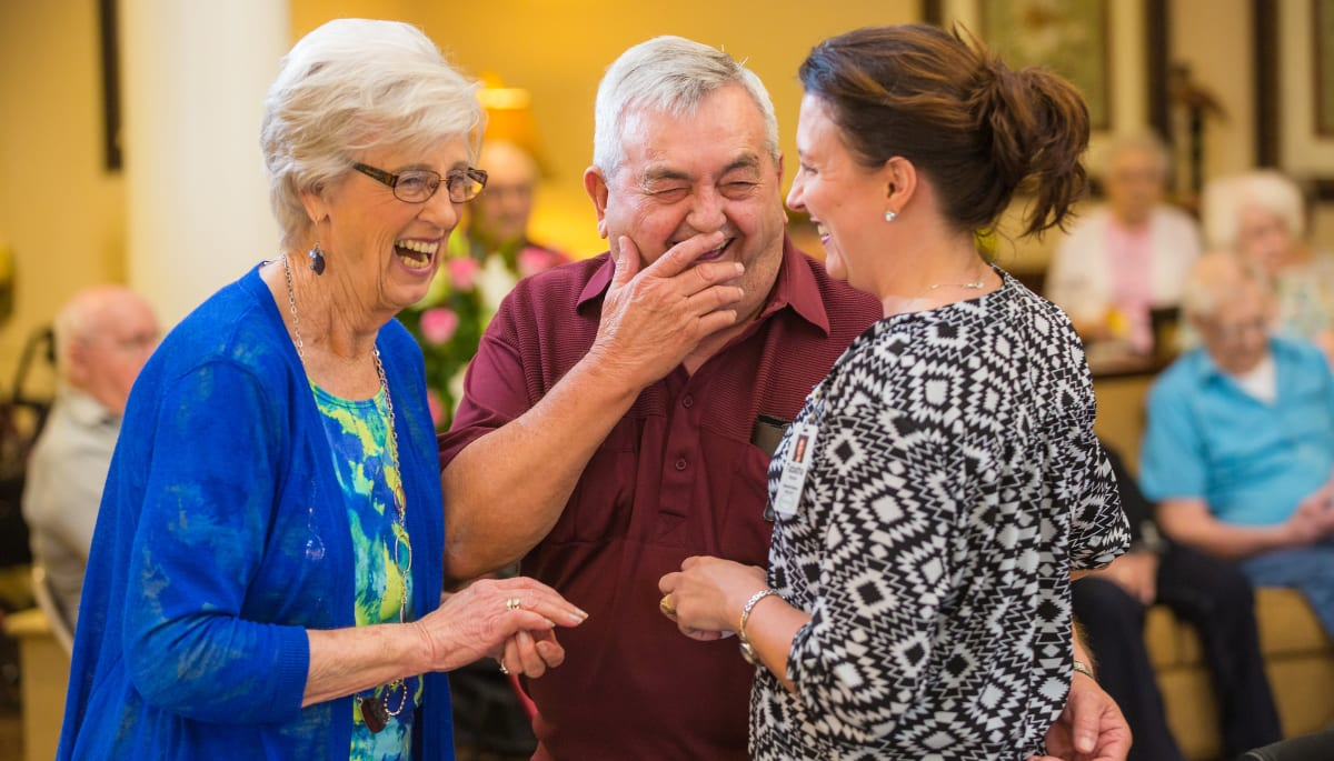 mingling residents at Touchmark on West Century in Bismarck, North Dakota