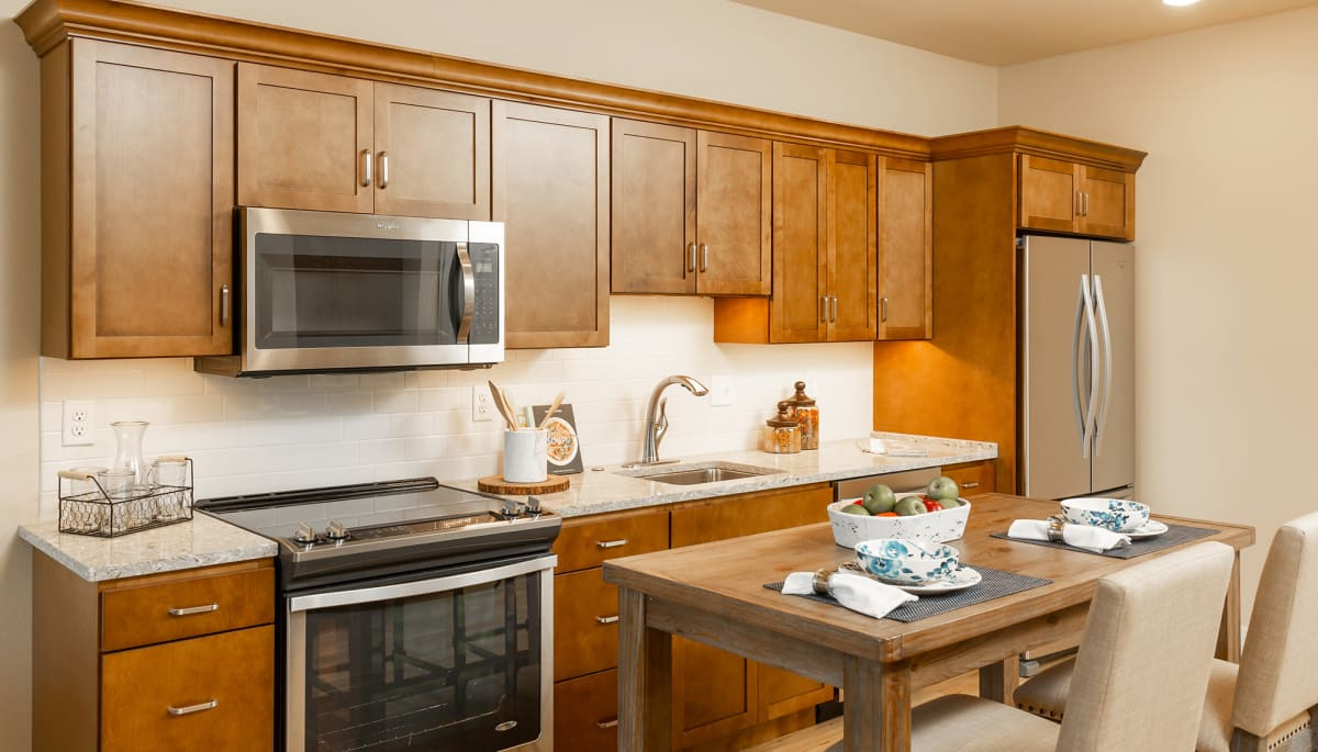 resident kitchen at Touchmark at All Saints
