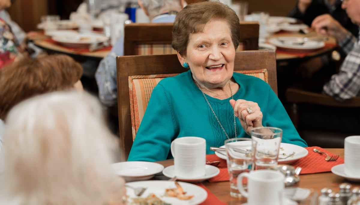 Residents dining at Touchmark at Wedgewood in Edmonton, Alberta