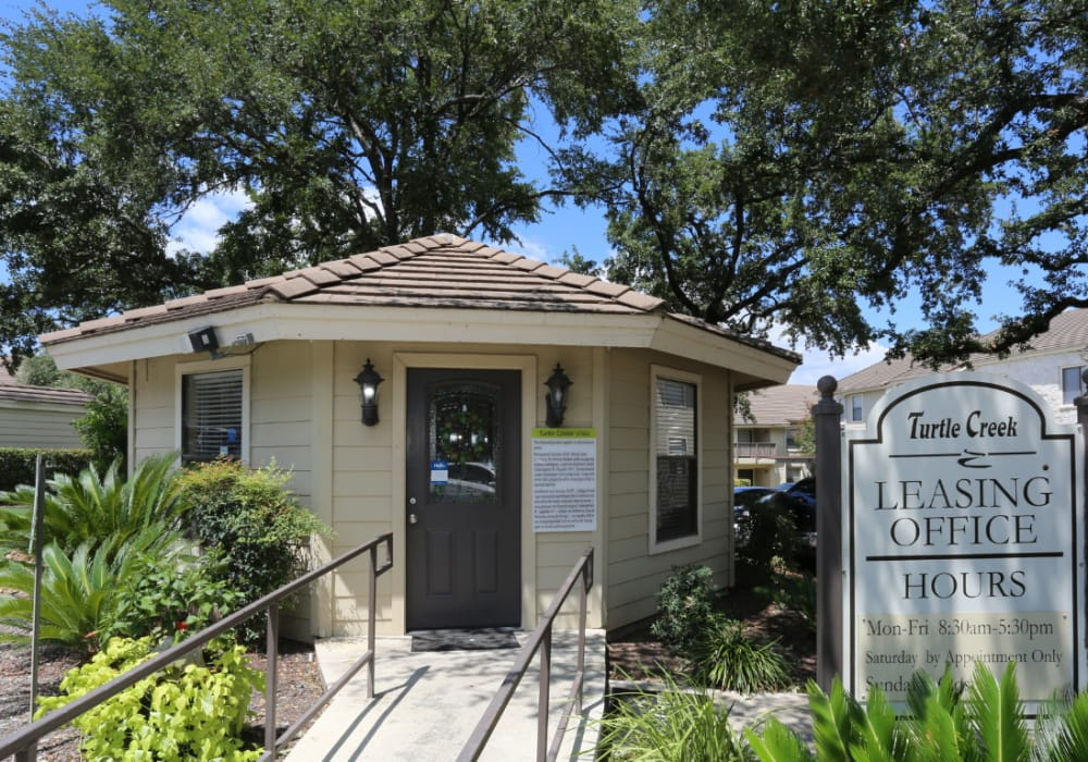 Leasing office at Turtle Creek Vista Apartments in San Antonio, Texas