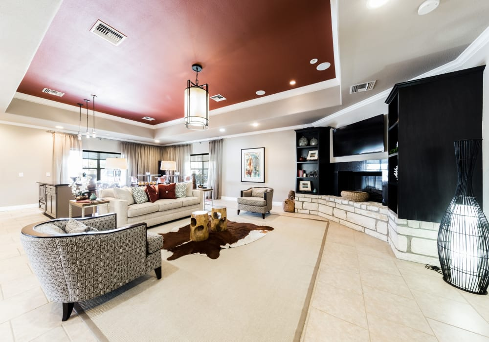 Interior of the luxury clubhouse at Pavilions at Northshore in Portland, Texas
