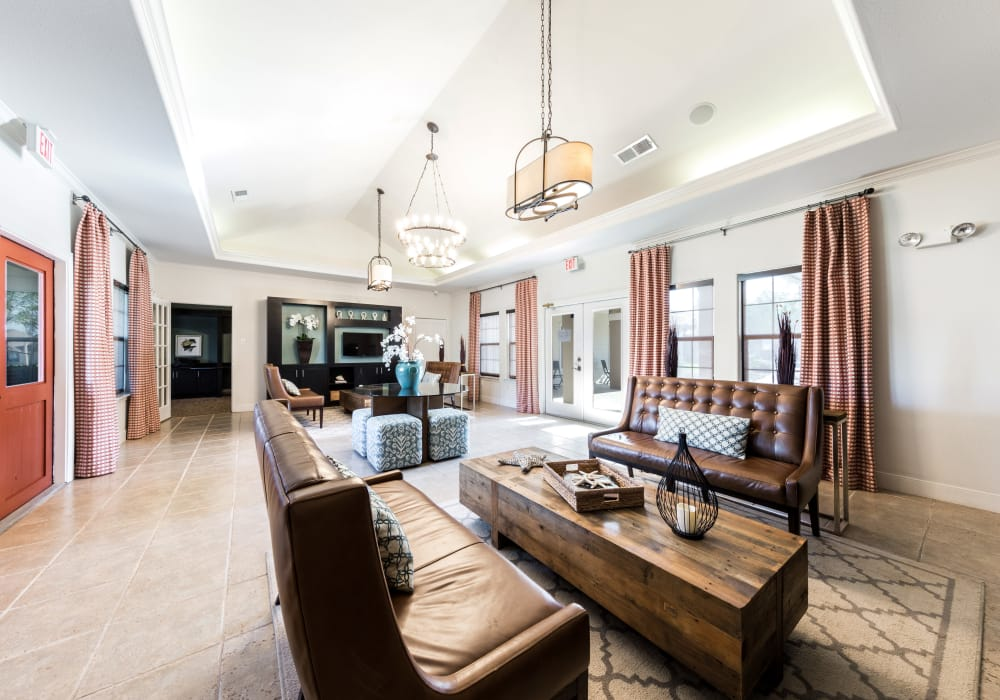 Enjoy a state-of-the-art resident clubhouse at Pavilions at Northshore in Portland, Texas