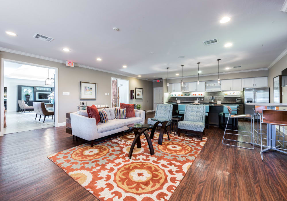 Pavilions at Northshore showcases a modern clubhouse in Portland, Texas