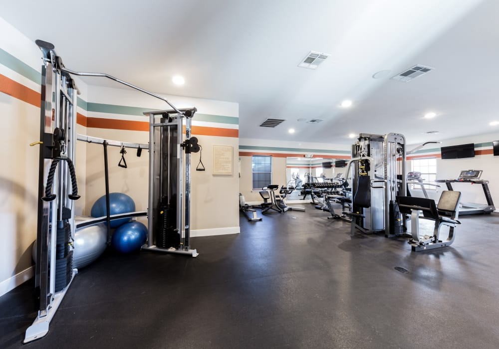 Stay healthy in the Pavilions at Northshore fitness center in Portland, Texas