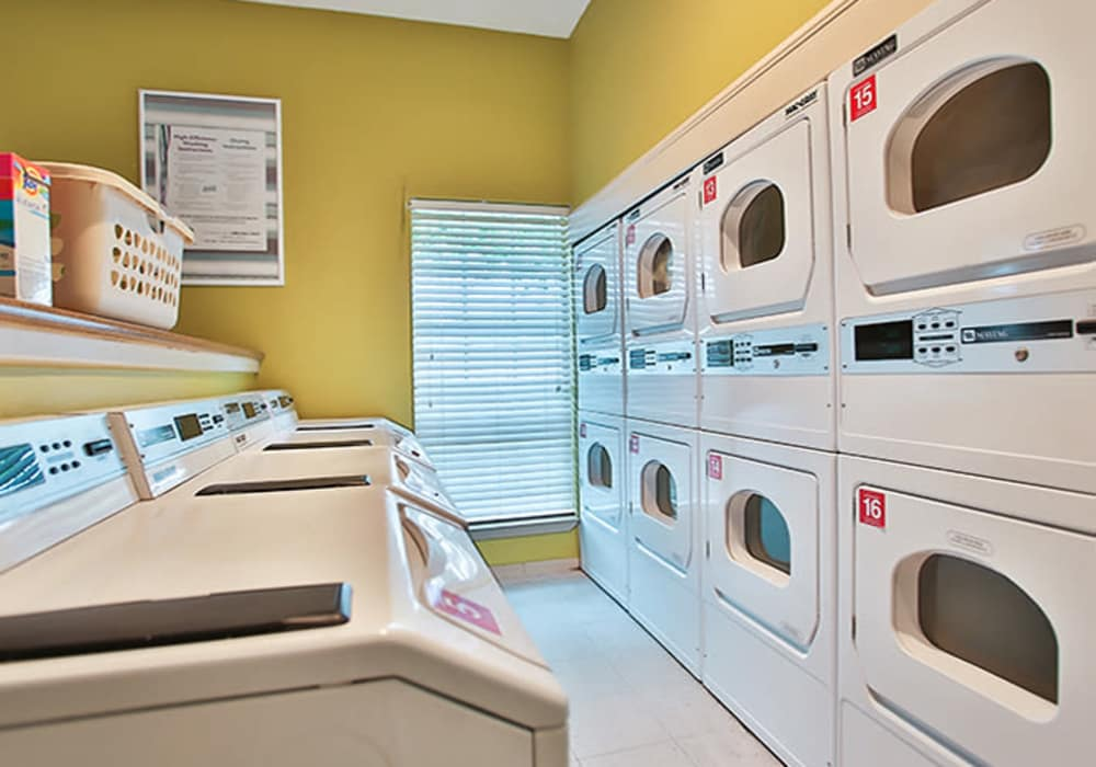 Laundry facility at The Pointe at Ramsgate in San Antonio, Texas
