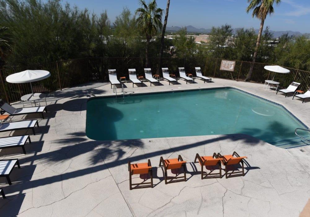 Exterior pool at Elevation Apartments in Tucson, Arizona