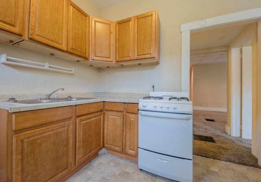 In-home features at Pleasant Street Apartments in Des Moines, Iowa