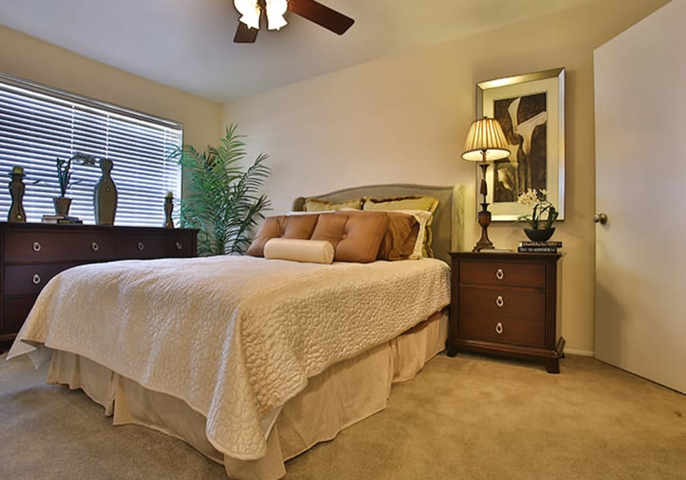 Bedroom at Willow Oaks Apartments in Bryan, Texas