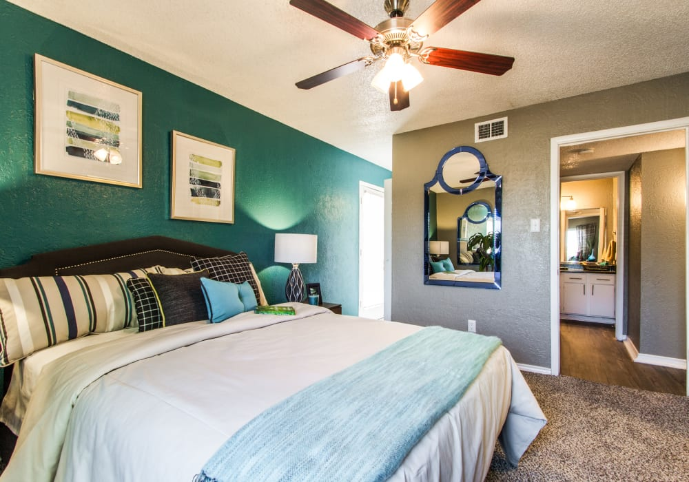 Bedroom at Sundance Apartments in College Station, Texas