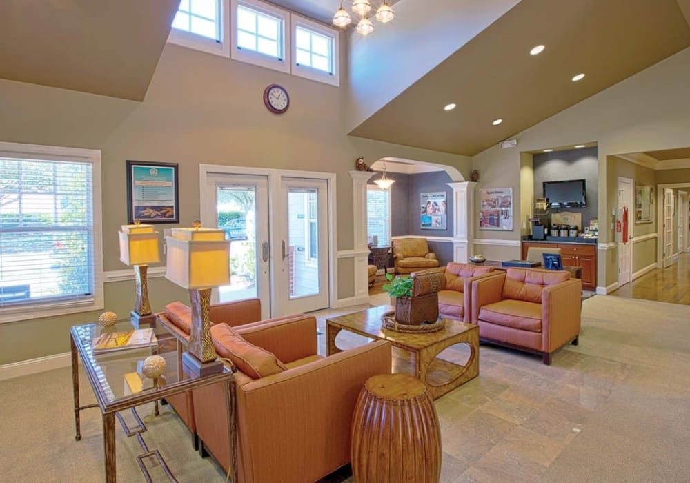 Beautiful clubhouse at Maple Bay Townhomes in Virginia Beach, Virginia