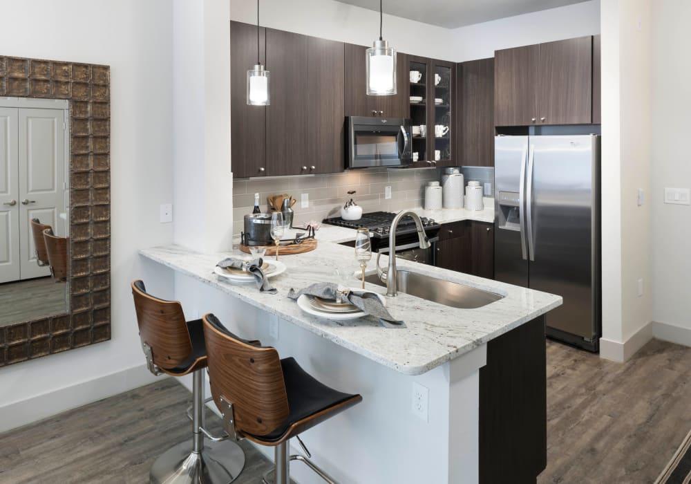 Wonderful kitchen at Axis 110 in Richardson, Texas