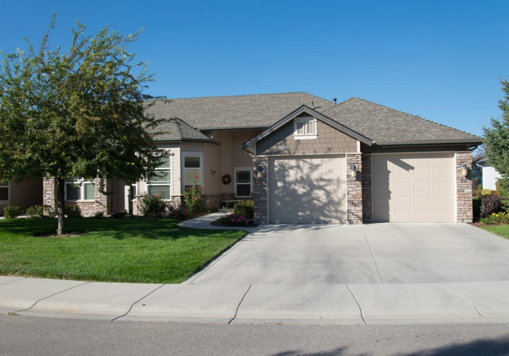 Independent living cottage at Touchmark at Meadow Lake Village in Meridian, Idaho