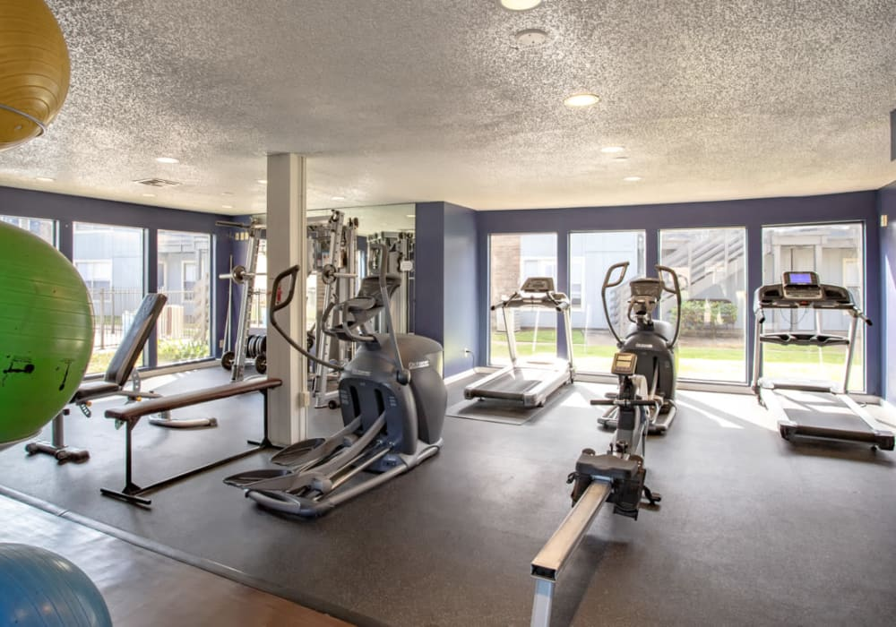 Fitness Center at Willowick Apartments in College Station, Texas