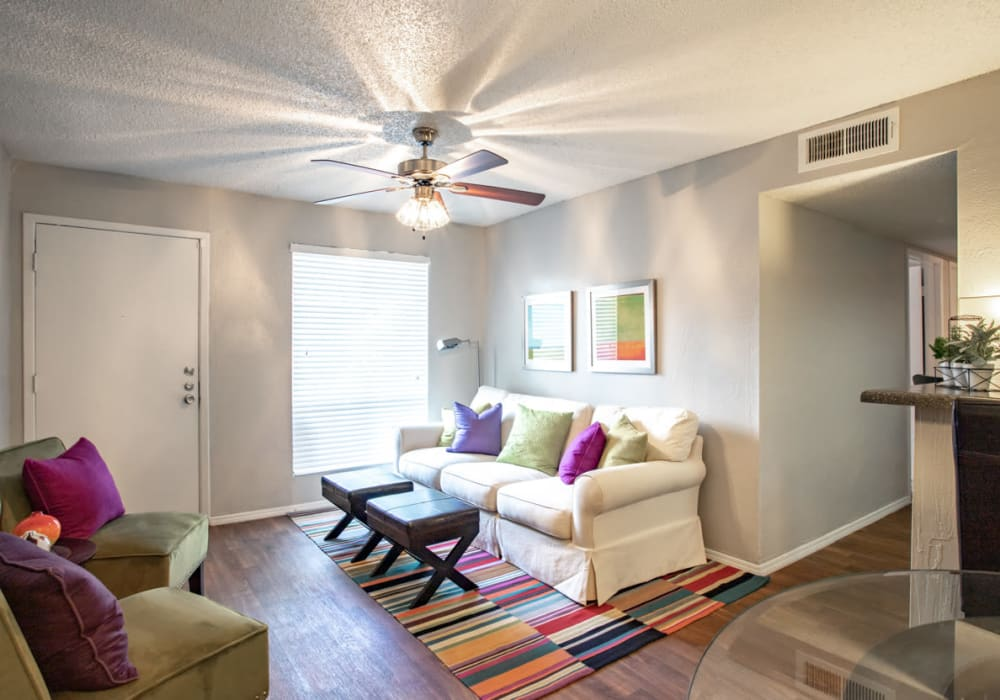 Living Room at Willowick Apartments in College Station, Texas