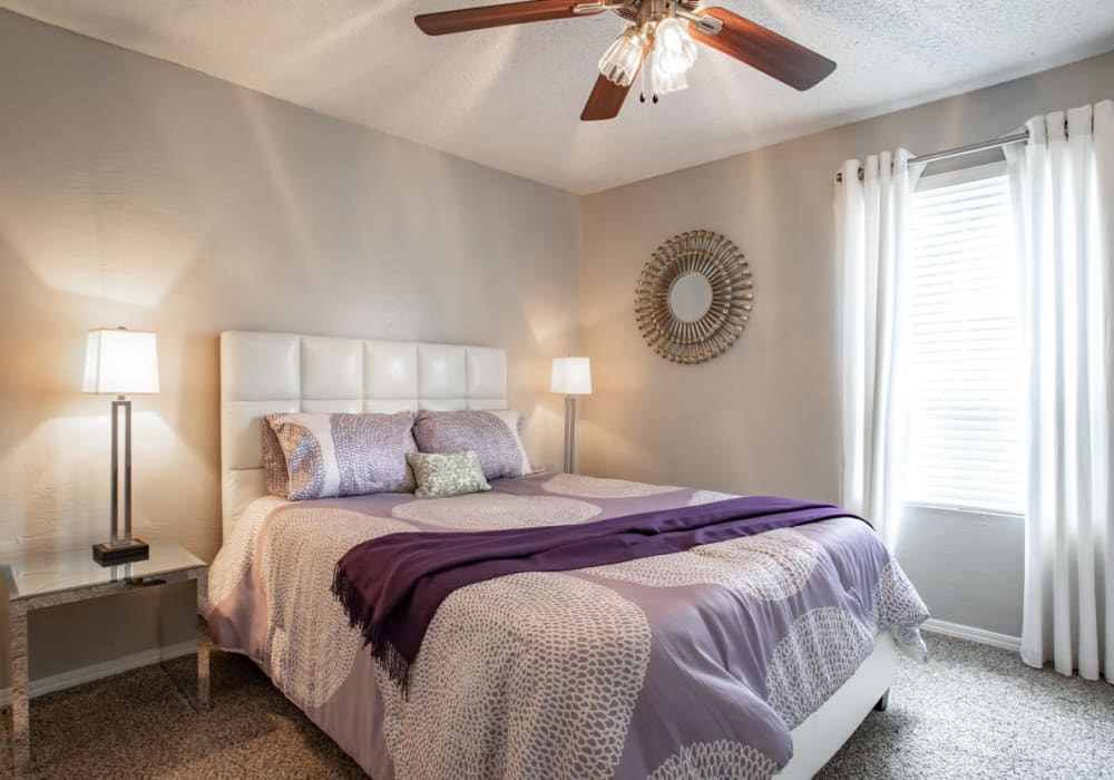 Bedroom at Apartments in College Station, Texas