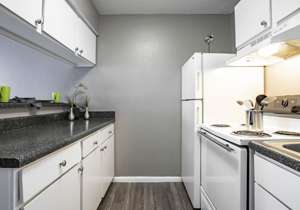 Willowick Apartments offers a Kitchen in College Station, Texas